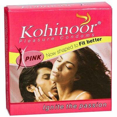 Kohinoor Pleasure Pink Condoms 3Unit