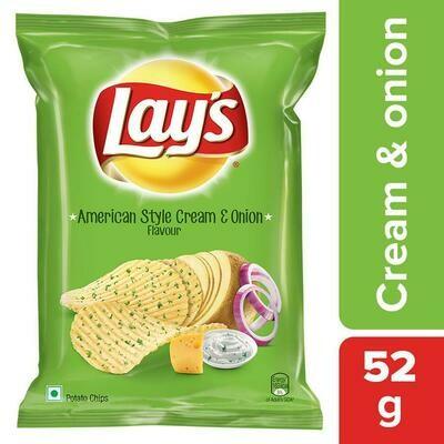 Lays Cream & Onion Flavour 52g