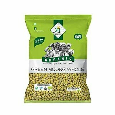 Organic Green Moong Whole 24 Mantra 500g