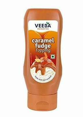 Veeba Caramel Fudge Topping 380g