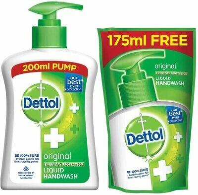 Dettol Original Liquid Hand Wash 200ml+175ml Refill