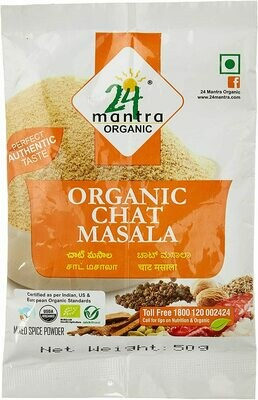 Organic Chat Masala 24 Mantra 50gm