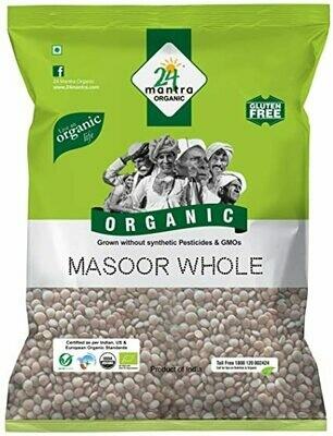 Organic Masoor Whole  24 Mantra 500gm