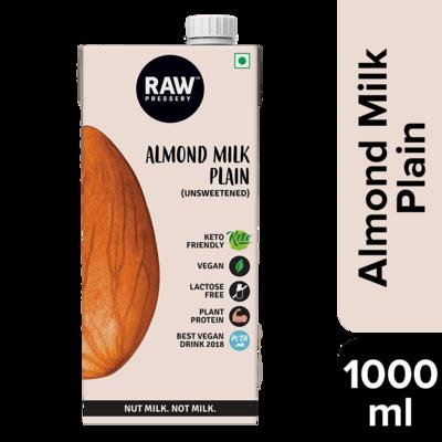 Raw Pressery  Almond Milk Plain 1ltr. (Unsweetened)