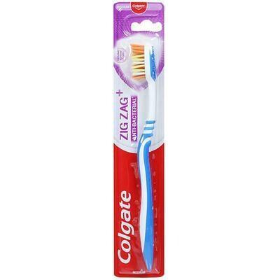 Colgate Zig Zag+ Anti-Bacterial Toothbrush Medium 30