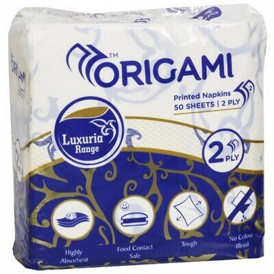 Origami Party Napkins 2Ply 50Sheets