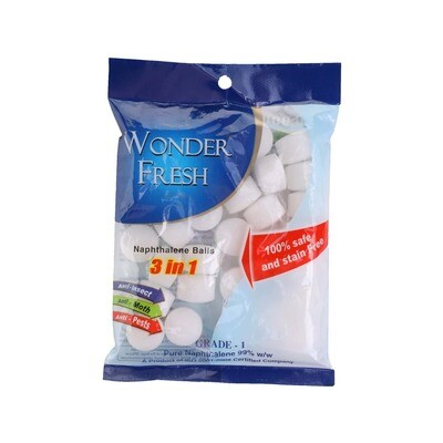 Wonder Fresh Napthalene Balls 50gm