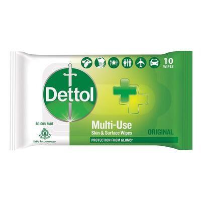 Dettol Original Multi-use 10 Wipes
