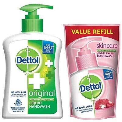 Dettol Original Liquid H/W 200ml + 2*175ml Refill Free