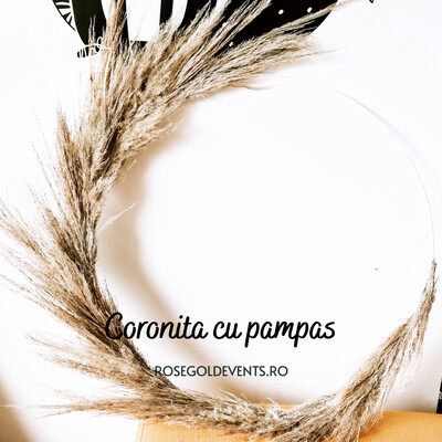 Coronita cu pampas natural bej
