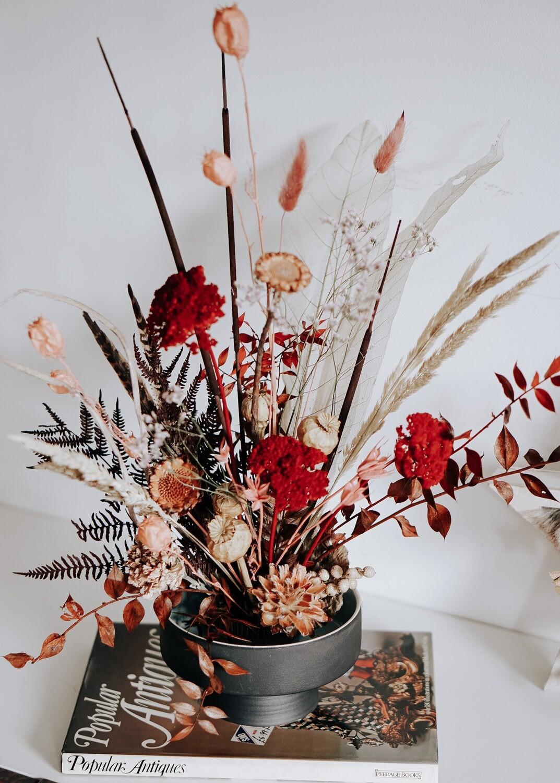 Aranjament cu flori naturale stabilizate