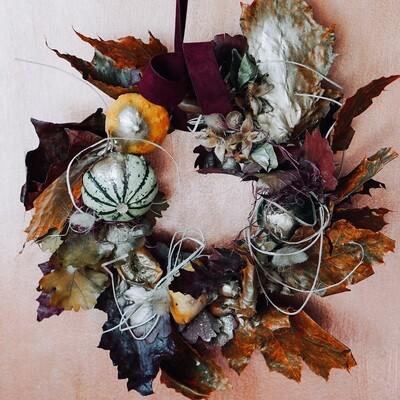 Coronita decorativa de toamna cu bostani naturali