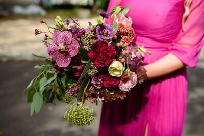 Buchet de toamna cu tonuri violet și Bunataturi din natura
