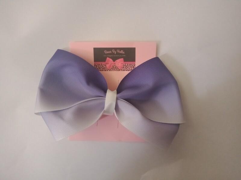 Purple and White Ombre