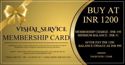Vishal Service Premium Membership Card