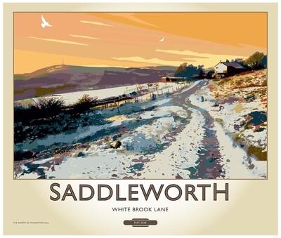 Fine Art Print Saddleworth - White Brook Lane