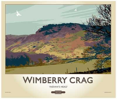 Fine Art Print Saddleworth - Wimberry Crag