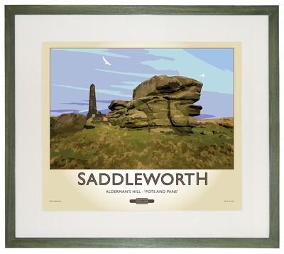 Framed Fine Art Print Saddleworth - 'Pots and Pans'