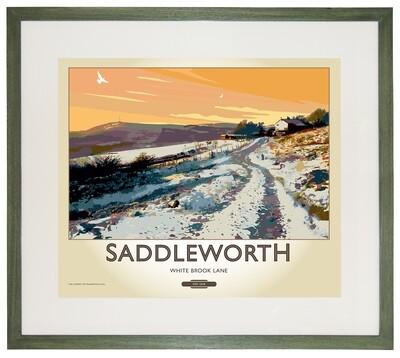 Framed Fine Art Print Saddleworth - Saddleworth - White Brook Lane