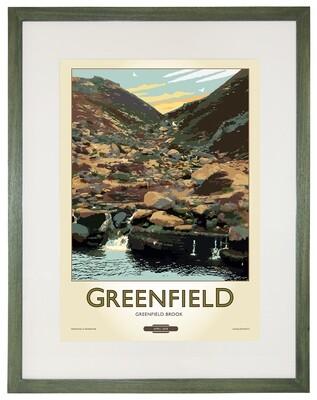 Framed Fine Art Print Saddleworth - Greenfield