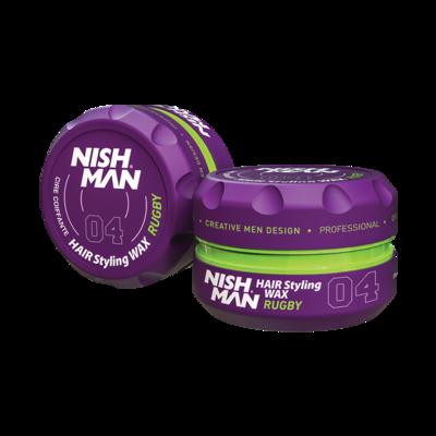 Воск для укладки волос на водной основе NISHMAN 04 RUCBY 150 мл.