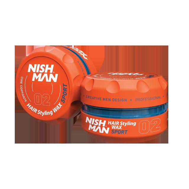 Воск для укладки волос на водной основе NISHMAN 02 SPORT 100 мл.