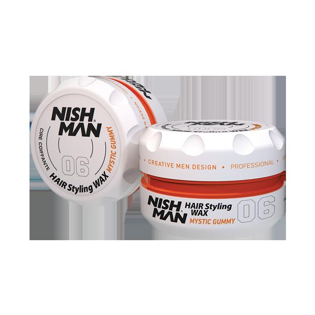 Воск для укладки волос на водной основе NISHMAN 06 MYSTIC GUMMY 150 мл.