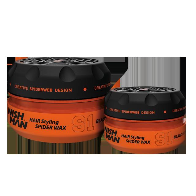 Воск для укладки волос на водной основе NISHMAN S1 BLACKWIDOW 150 мл.