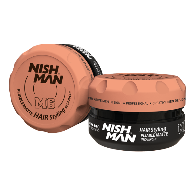 Воск для укладки волос на водной основе NISHMAN M6 PLIABLE MATTE 100 мл.