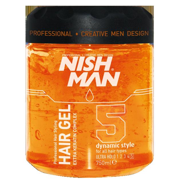 Гель для укладки волос NISHMAN 5 DYNAMIC STYLE 750 мл.