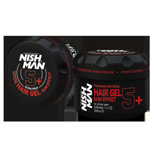 Гель для укладки волос NISHMAN 5+ GUM EFFECT 300 мл.