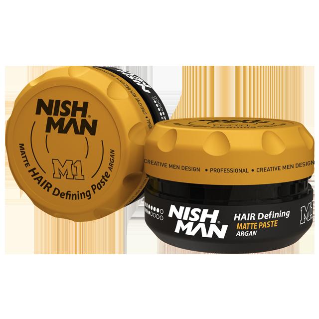 Матовая паста для укладки волос NISHMAN M1 AGRAN 100 мл.