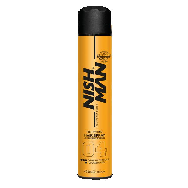 Лак для волос NISHMAN EXTRA STRONG HOLD 04 400 мл.