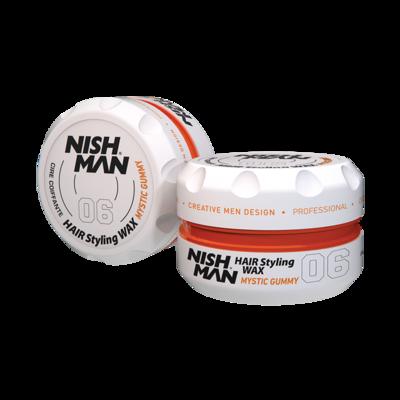 Воск для укладки волос на водной основе NISHMAN 06 MYSTIC GUMMY 100 мл.