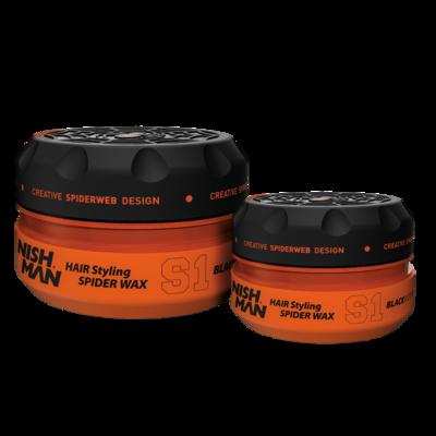 Воск для укладки волос на водной основе NISHMAN S1 BLACKWIDOW 100 мл.