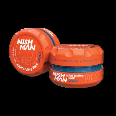 Воск для укладки волос на водной основе NISHMAN 02 SPORT 150 мл.