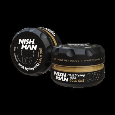 Воск для укладки волос на водной основе NISHMAN 07 GOLD ONE 150 мл.