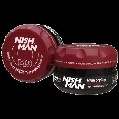 Матовая паста для укладки волос NISHMAN M3 MATTE PASTE 100 мл.