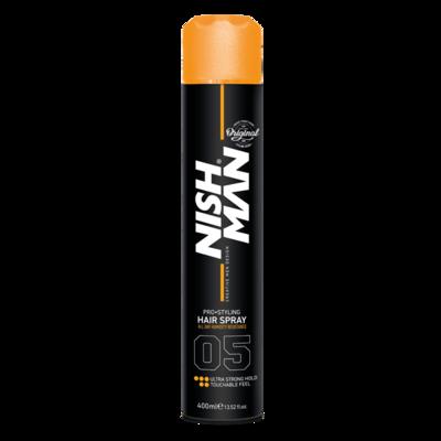 Лак для волос NISHMAN EXTRA STRONG HOLD 05 400 мл.