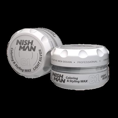 Воск для укладки волос на водной основе NISHMAN C1 LIGHT SILVER 150 мл.