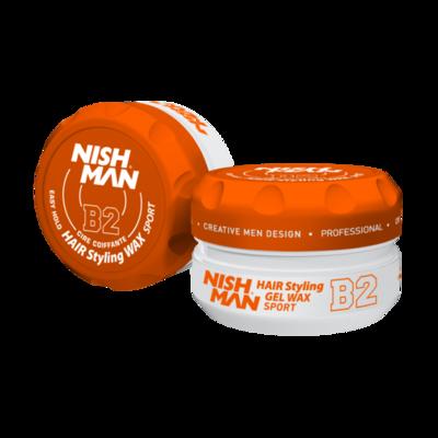 Воск для укладки волос на водной основе NISHMAN B1 GUMGUM 150 мл.
