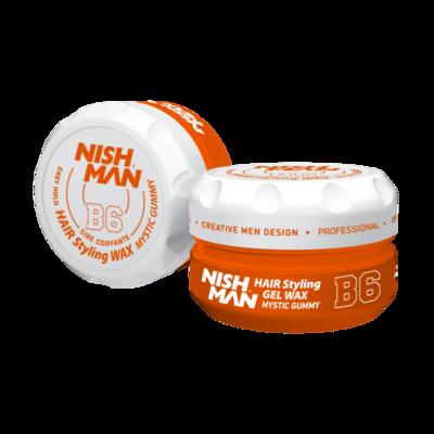 Воск для укладки волос на водной основе NISHMAN B6 MYSTIC GUMMY 150 мл.