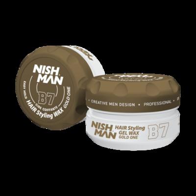 Воск для укладки волос на водной основе NISHMAN B7 GOLD ONE 150 мл.