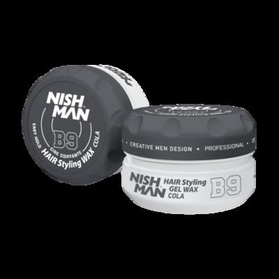 Воск для укладки волос на водной основе NISHMAN B9 COLA 150 мл.