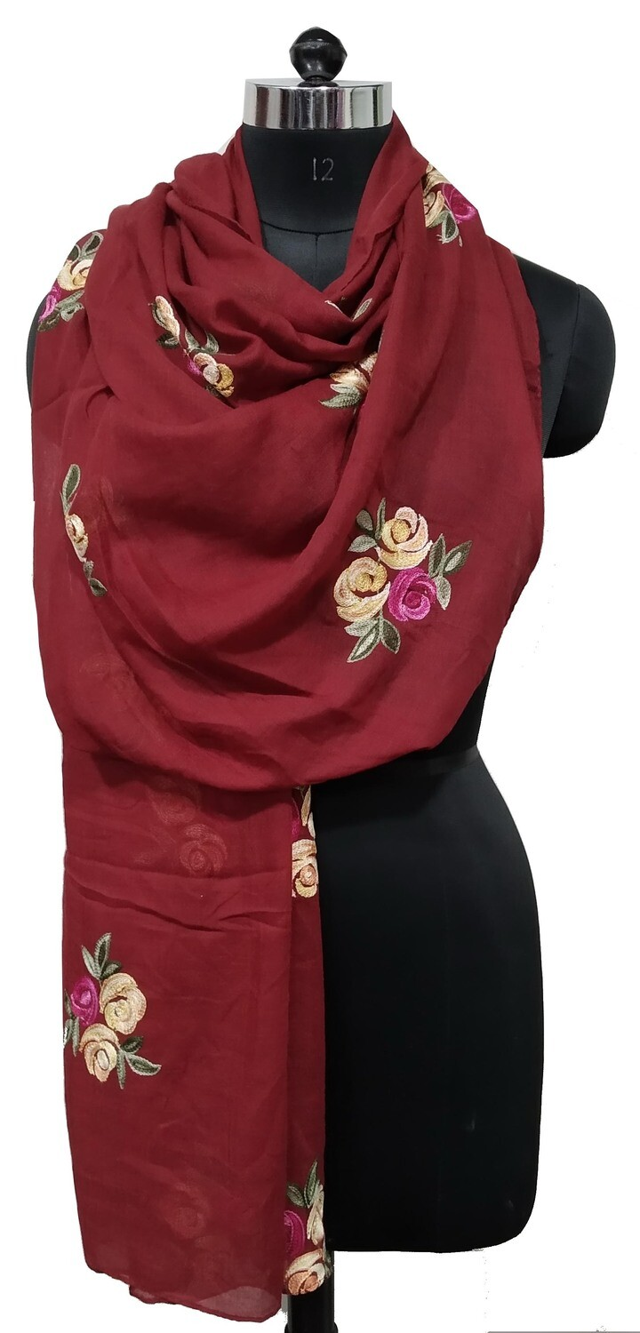 embroidered large scarf