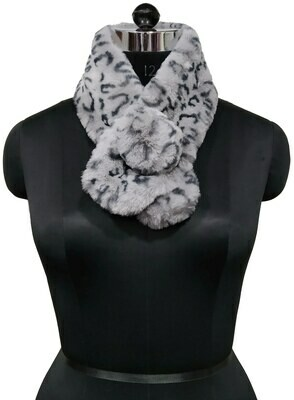 fur neck collar printed