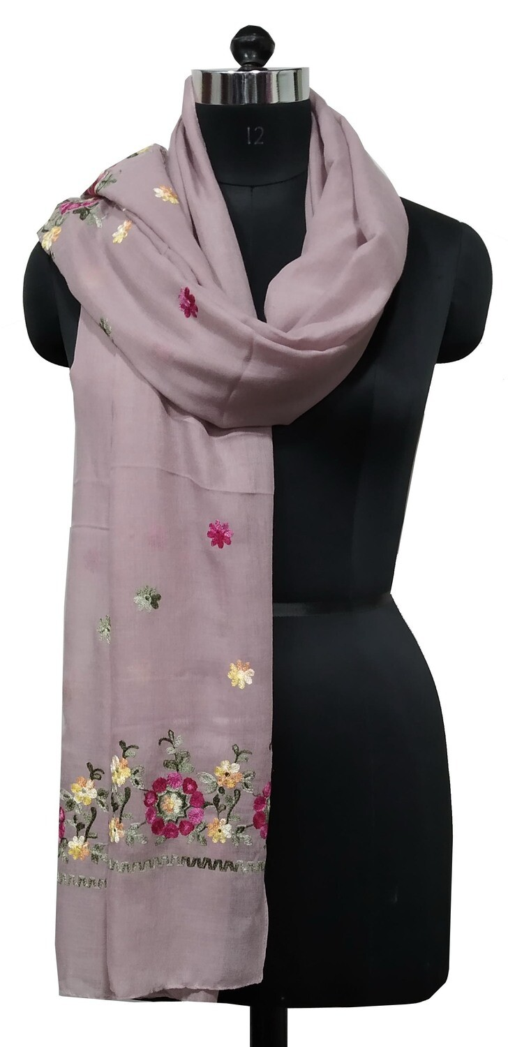 embriodered large scarf