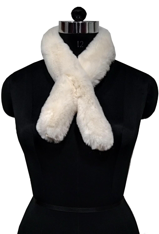 fur neck collor solid color