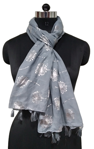 foil printed large scarf