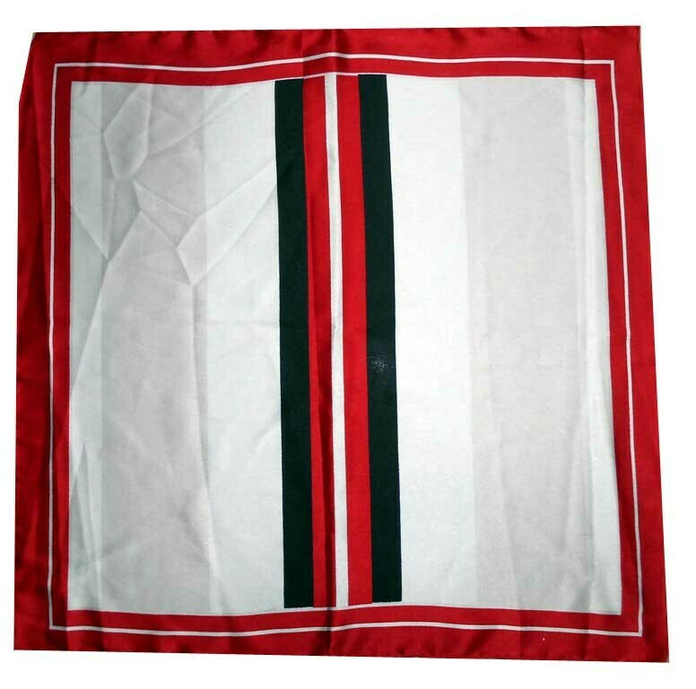 printed satin bandana